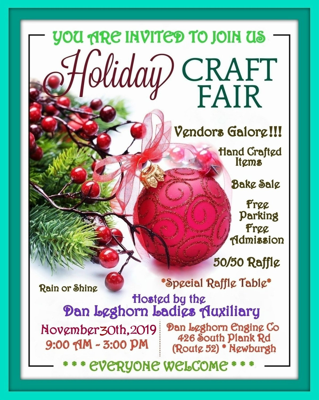 2019 Dan Leghorn Ladies Auxiliary Holiday Craft Vendor Fair My Hudson Valley