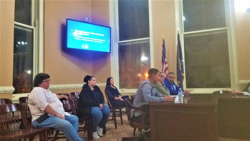 Dispatchers present during last Wednesday's special meeting.