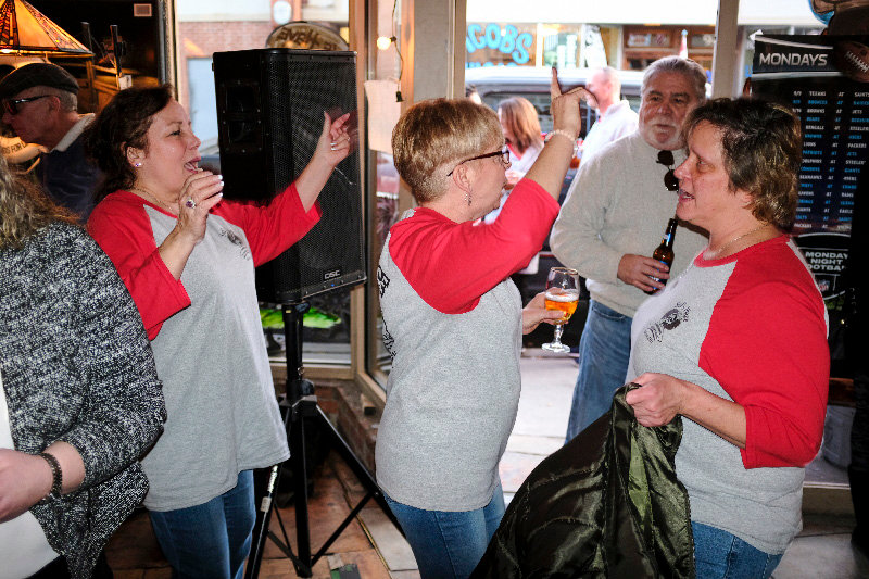 Dancing to the DJ went on all afternoon on Saturday. Pictured (l. – r.) Diane Brooks, Lori Rheal and Dayna Espisito.