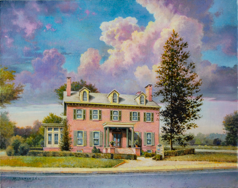 Patchett house by Mike Jaroszko  (Oil on canvas).