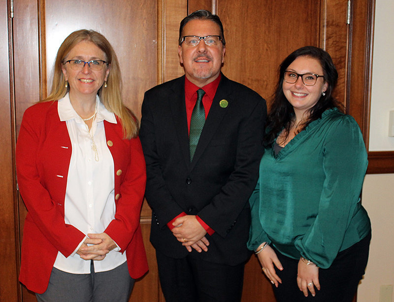 Middlehope and New Windsor branch manager Jean Sexton (l.) is pictured with , President and CEO Derrik Wynkoop and Walden branch manager Jenna Frey.