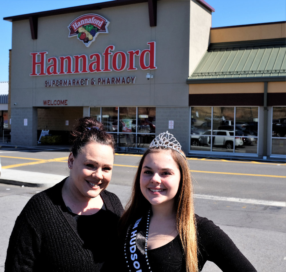 Renae Martin and her daughter Emily Rose are shopping for seniors at Hannaford to allow them to be safe in this age of the coronavirus.