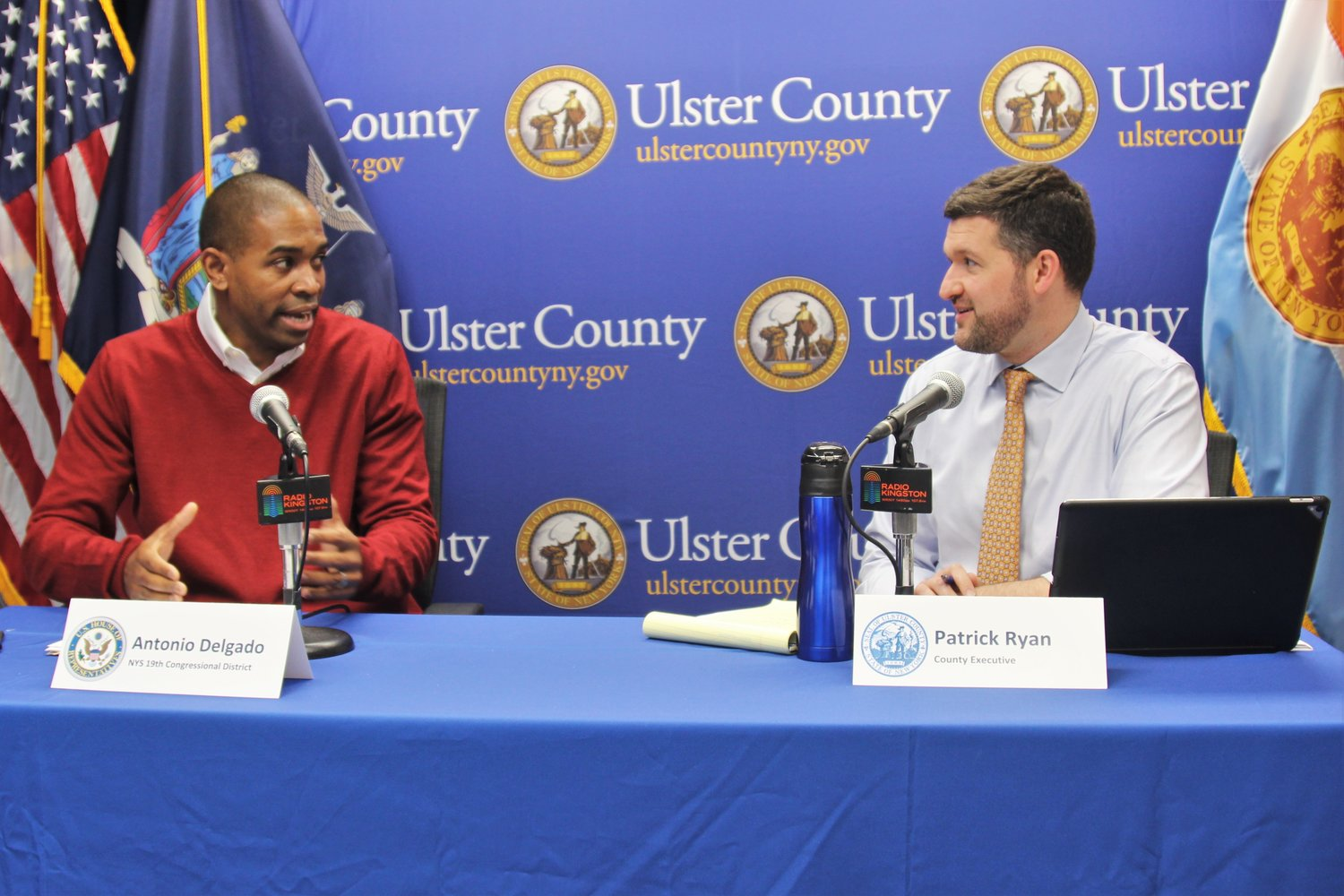 Congressman Antonio Delgado, Ulster County Executive Pat Ryan