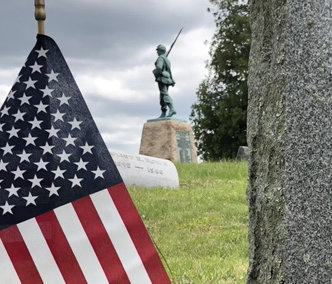 The Orange Blossom Memorial, a tribute to the region's Civil War fallen, stands sentry in the Wallkill Valley Cemetery.