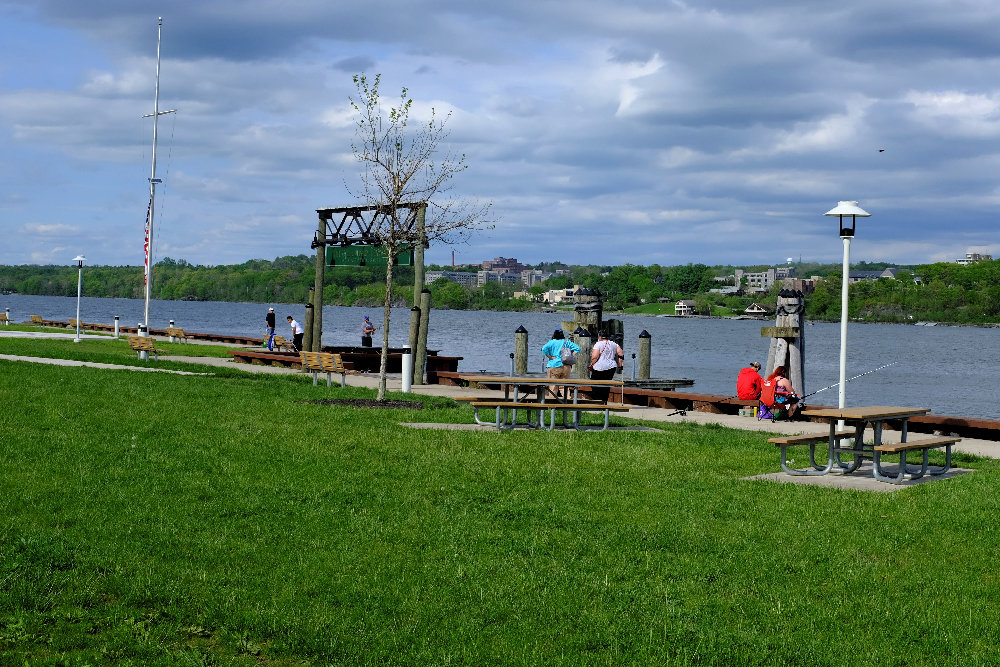 Lloyd Supervisor Fred Pizzuto reopened the Highland Landing Park last Friday.