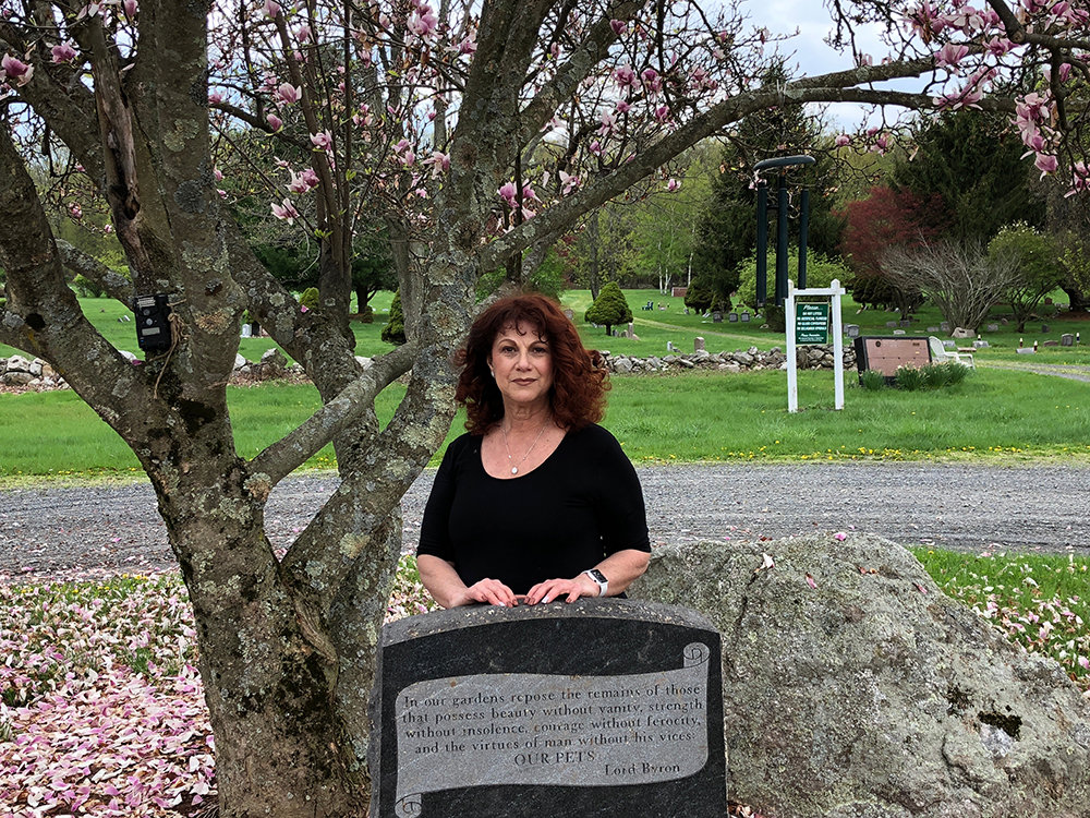 Rita Levine at the Forever Angels Pet Cemetery at Abbingdon Hill in Montgomery.