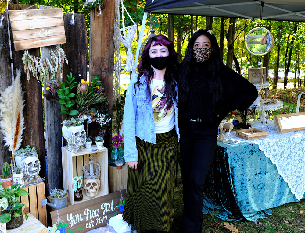 Nicole Vargas (L) and Alexandra Umana brought their plant decor and interior styling business called You Go Girl to the festival.