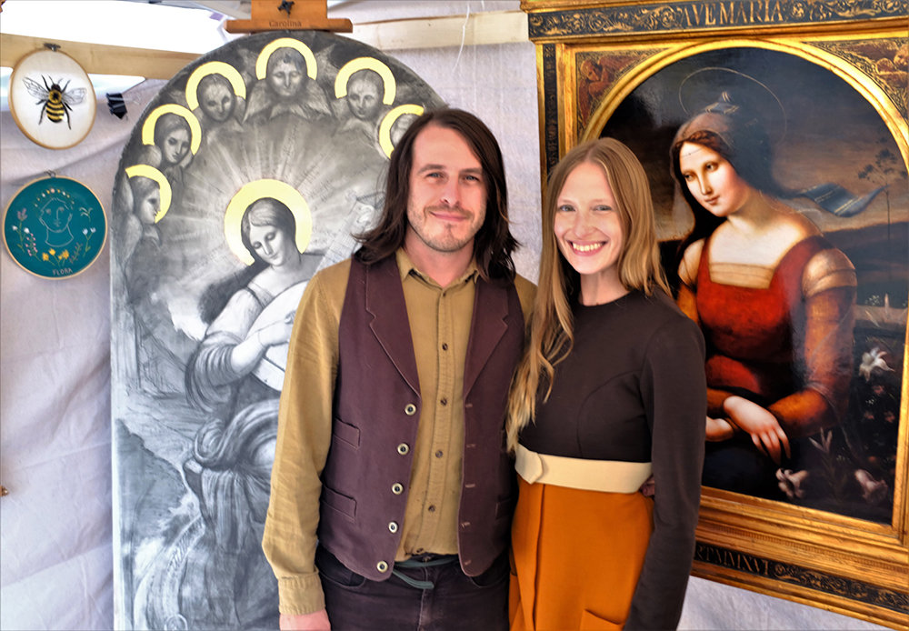 Artist David Troncoso displayed his Renaissance art at Walktoberfest.
