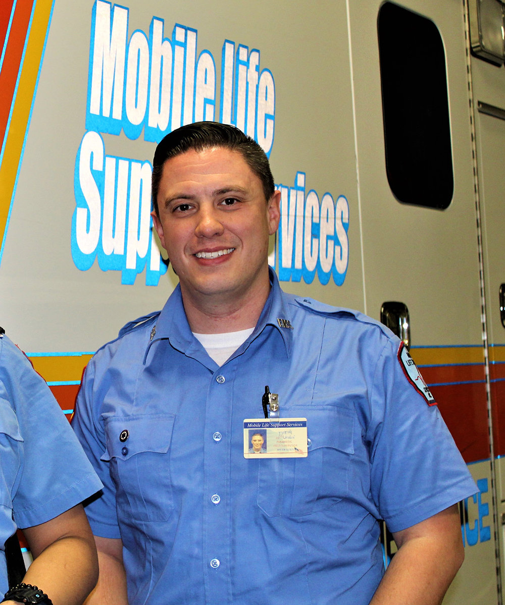 Gerrit Blauvelt, a graduate from the Wallkill Central School District and the Ulster BOCES Criminal Justice Program is now a paramedic supervisor during the Covid-19 pandemic.