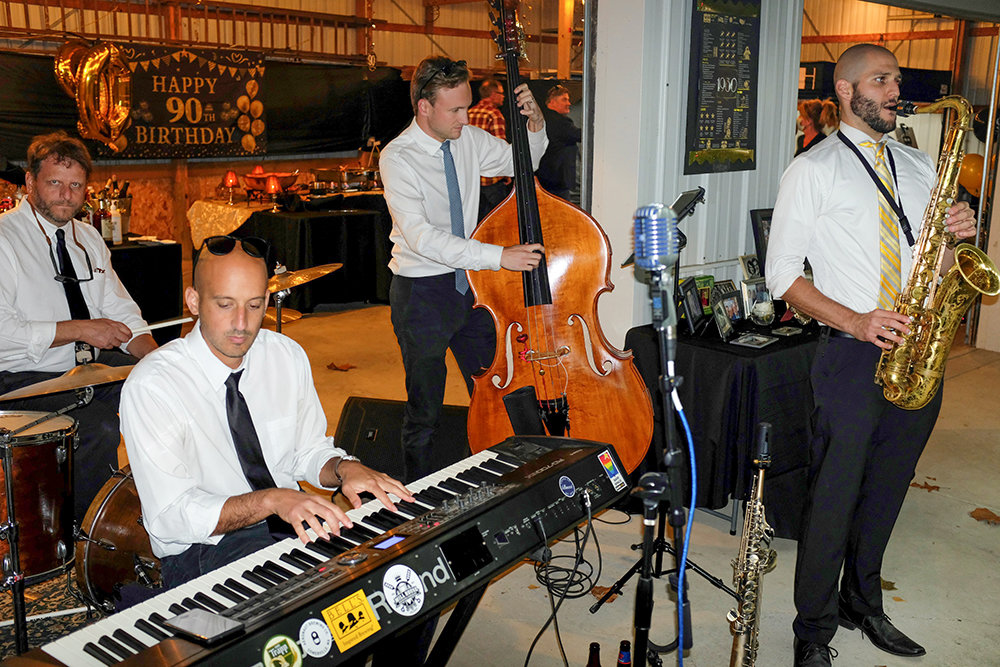 The John North Jazz Quartet performed jazz and blues standards for the evening.