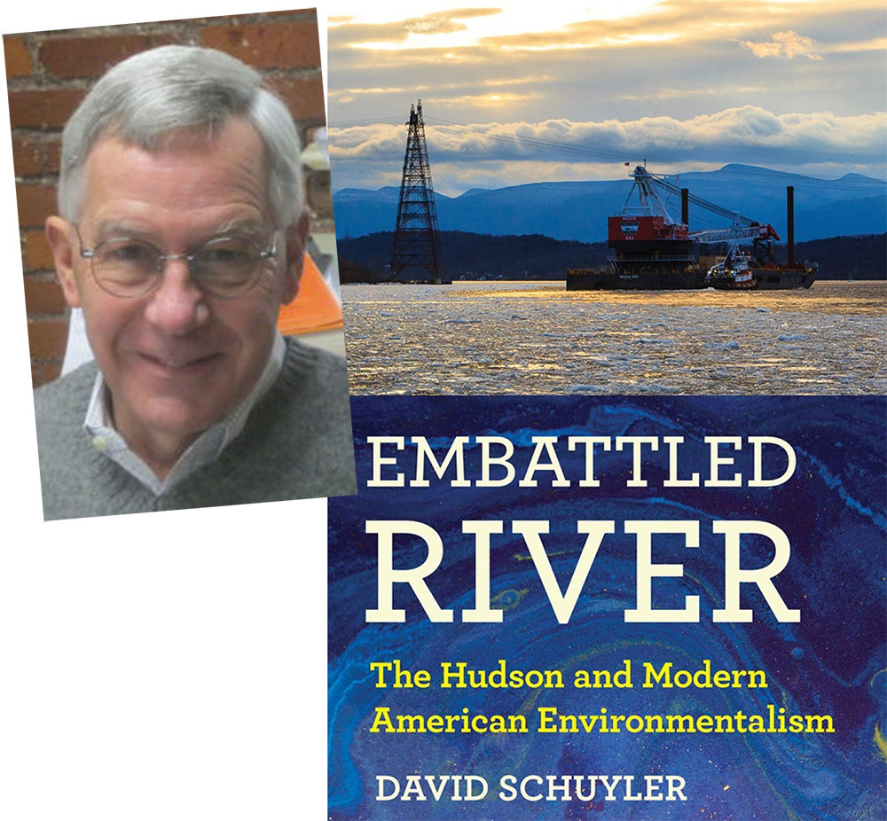 "David Schuyler with his book Embattled River"", illuminates the early, hard fought, environmental movement."
