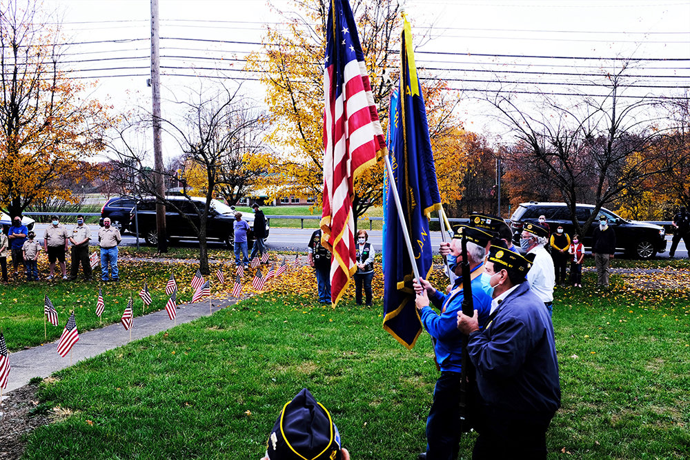 The American Legion Color Guard attended the ceremony.