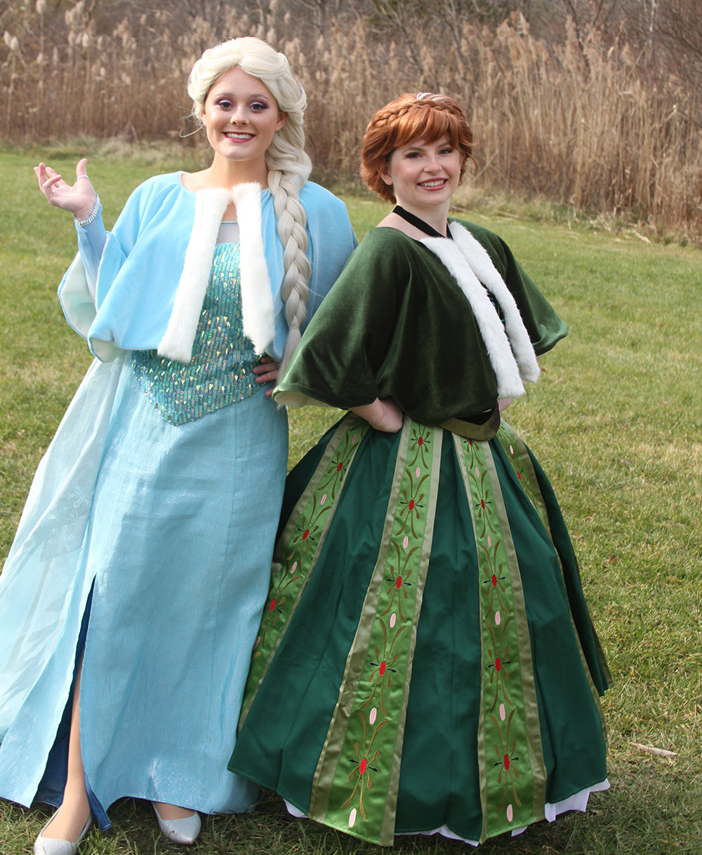 Elsa (Rory Myles) and Anna (Jessica Downing) of Frozen greeted young visitors on Nov. 21 at Highland's Lilly Rae in the Hamlet.