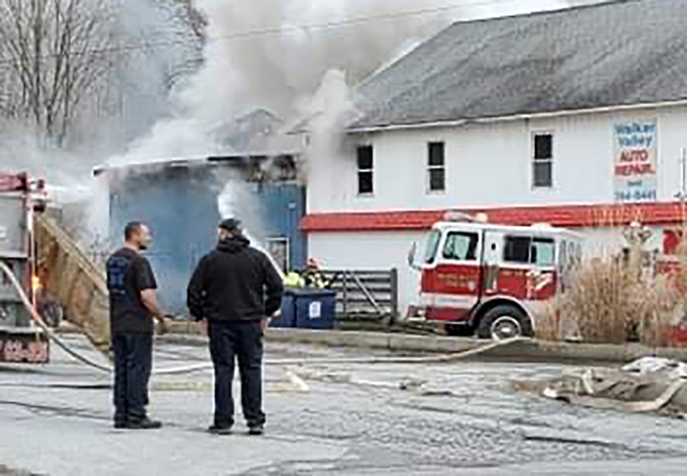 On Saturday afternoon, a fire burned Walker Valley Auto and Truck Repair LLC leaving part of the business unsalvageable.