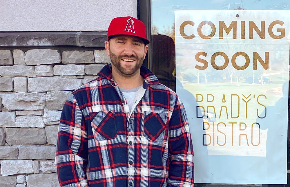 Brady Purcell stands in front of the future home for his restaurant Brady's Bistro. The business will be located at 1019 Route 17K in the Town of Montgomery.