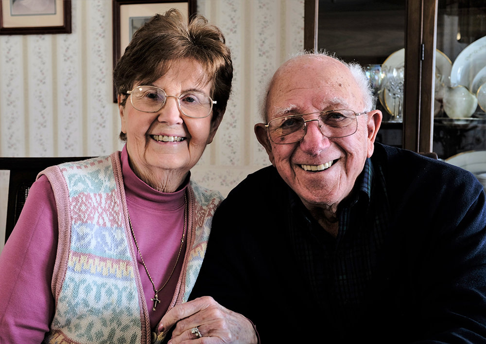 Ruth and James Aurigemma have been honored by the Catholic Archdiocese of New York for 65 years of marriage.