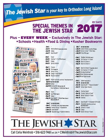 Jewish Star Schedule 2017 by Date
