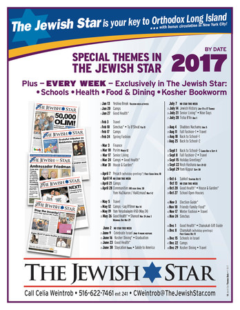 The Jewish Star 2017 Special Issues by Date