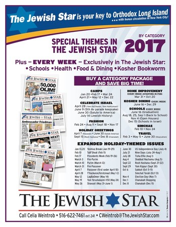 The Jewish Star 2017 Special Issues by Category