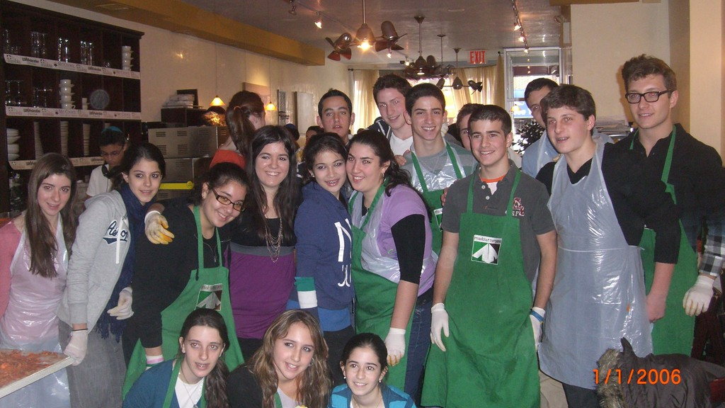 The Philanthropy for the Future team at Masbia Soup Kitchen in Brooklyn on Thanksgiving.