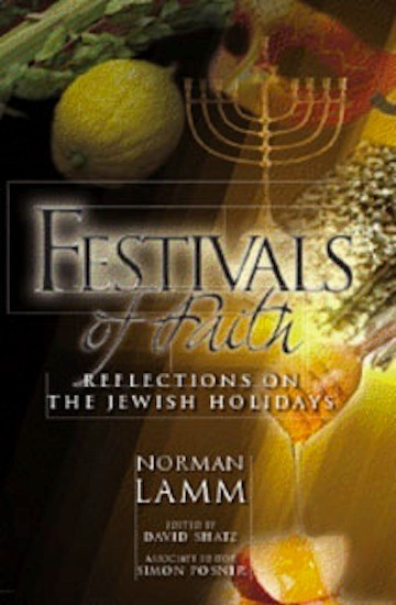 A collection of sermons on Jewish holidays by Rabbi Dr. Norman Lamm