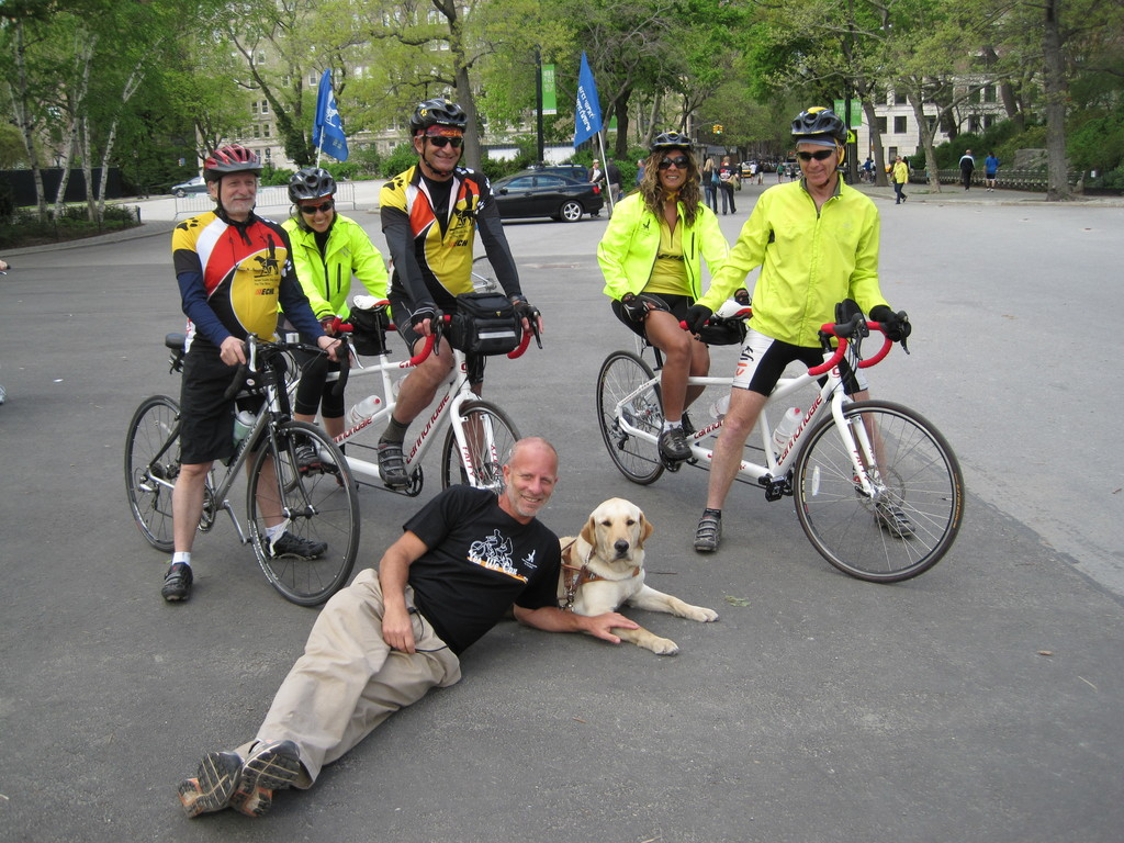 A team of blind Israeli bikers participated in the Five Boro Bike Tour on May 1.