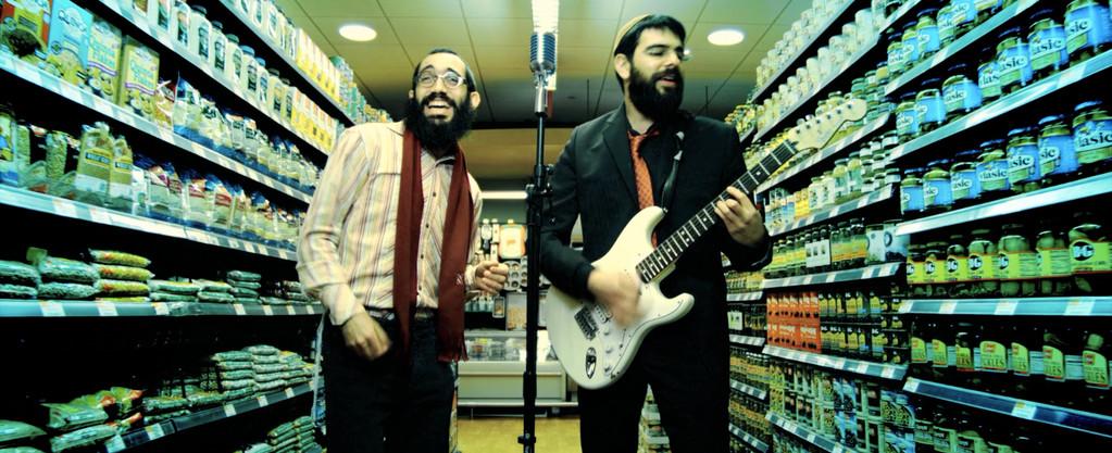 Bentzi Marcus, lead guitarist and Shmuel Marcus lead singer, 8th Day