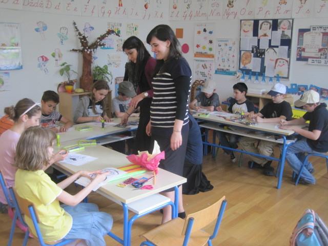 Students from Touro's Lander College for Women visit the Lauder Hugo Kon School in Croatia.