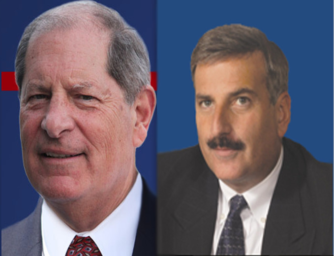 Republican Bob Turner, left; and Democrat David Weprin, right.