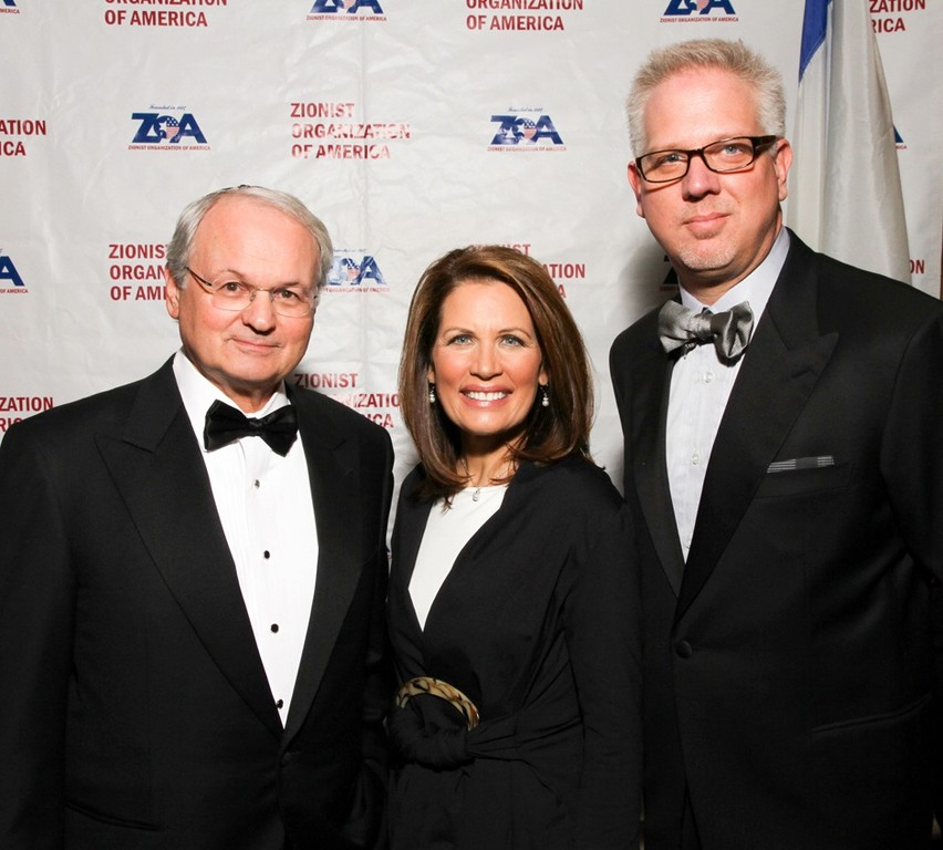 ZOA National President welcomed GOP presidential candidate Rep. Michele Bachmann and news commentator Glenn Beck to this year's national dinner.