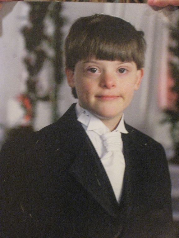 JJ, age 11, at a family simcha.