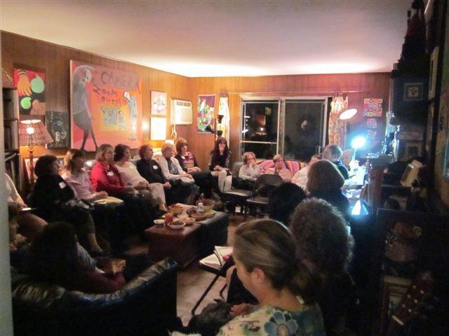 Devora group at it's November jewish book month program...Kenneth Wishnia author of The Fifth Servant was the speaker, Mira Rosenfeld Sennett, education vp and moderator.