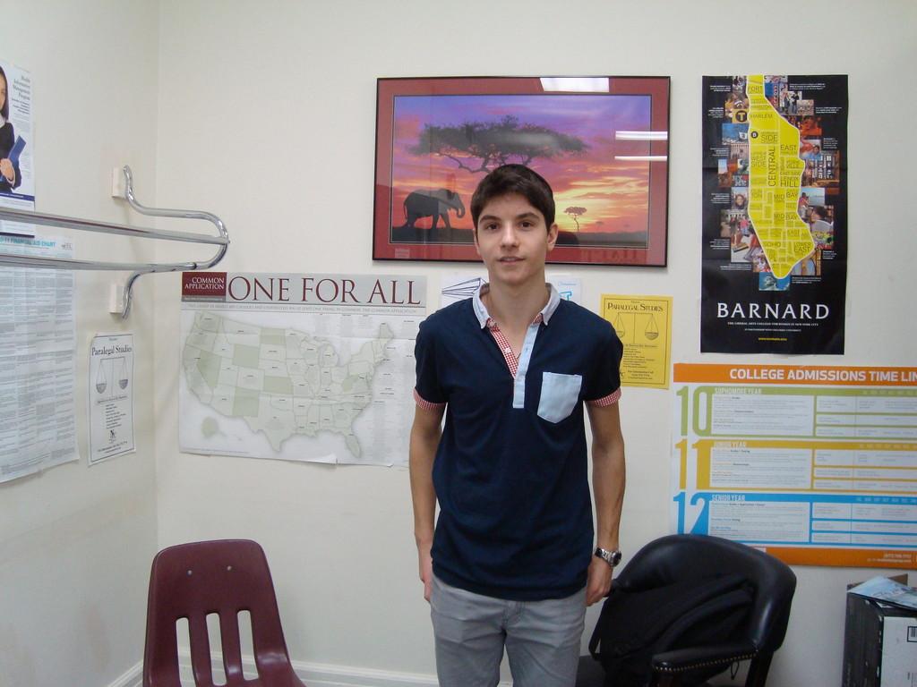 Haim Assaraf, HAFTR student from France, a relative of the Sandler family.