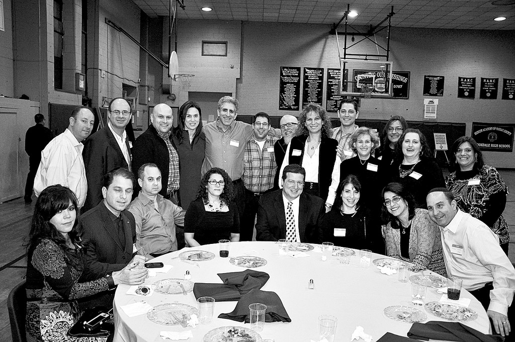 Hebrew Academy of Nassau County alumni enjoy a reunion with a 1980s theme reminiscent of their time in school.