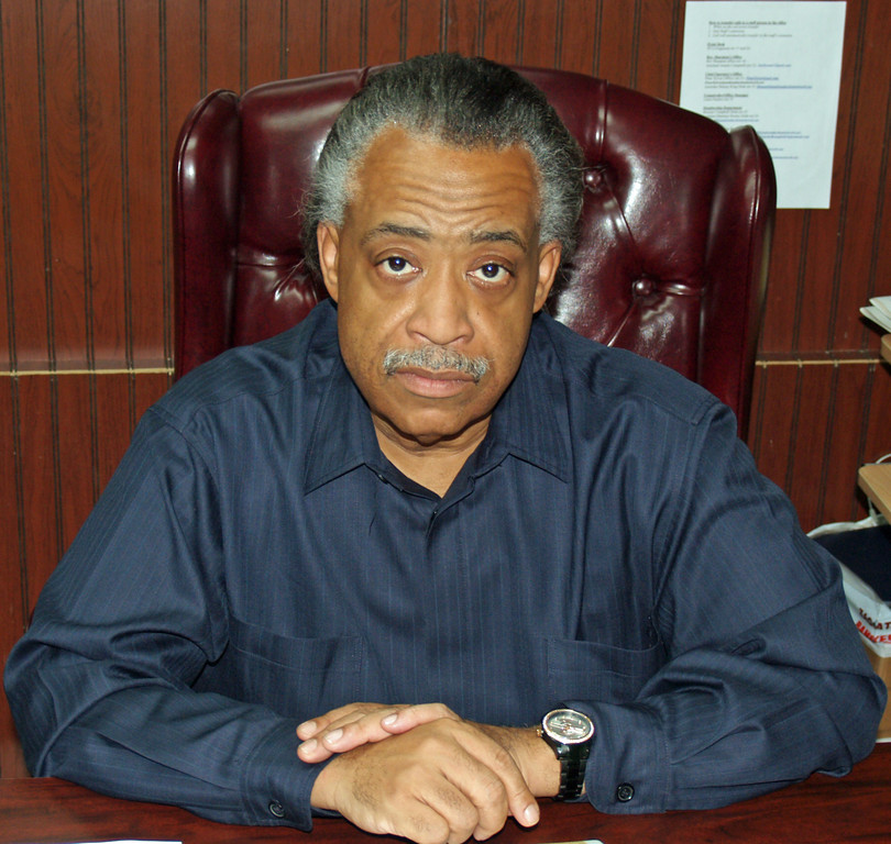 Al Sharpton poses for a photographer in 2007.
