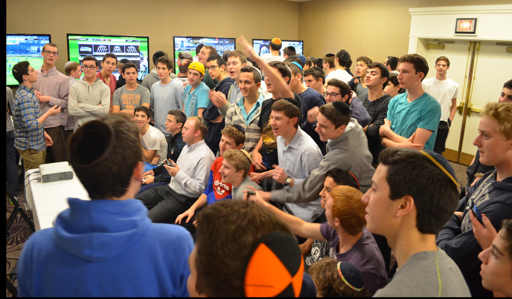 The DRS Shabbaton included several competitive activities, such as a Madden football video game tournament.