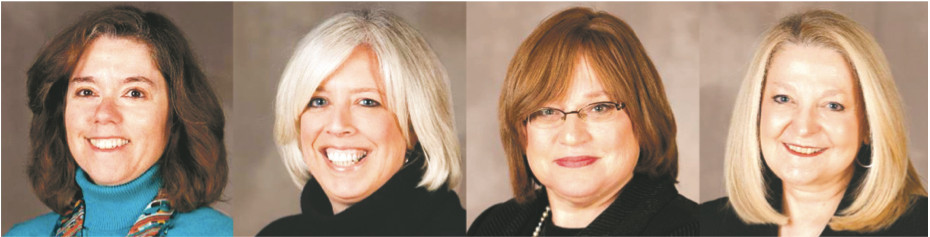 HAFTR honorees (l to r): Cyndy Goldberg, Joy Hammer, Rochelle Brand, Naomi Lippman.