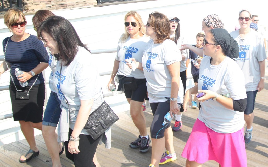 Package From Home walkers helped to raise money and donated supplies for soldiers in Israel.