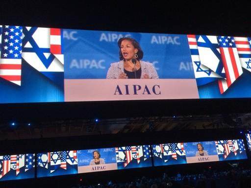 U.S. National Security Advisor Susan Rice at AIPAC Monday night.