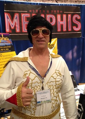 Elvis touted Memphis at the OU Commiunities Fair.