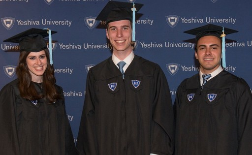 Three HALB alumni named valedictorians at Yeshiva University colleges (from left): Elana Schreier-Glatt, Mark Weingarten and Yechiel Auman.