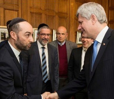 Steve Maman meets with Canadian Prime Minister Stephen Harper.