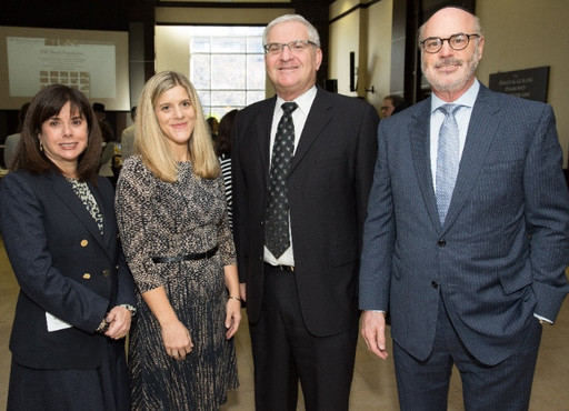 From left: Jayne Perilstein, executive director of development, USC Shoah Foundation; Kim Simon, managing director, USC Shoah Foundation; CIJE President Jason Cury, and Elly Kleinman, CIJE board member.