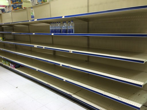 Shelves were empty in this aisle in Brach's two weeks ago.