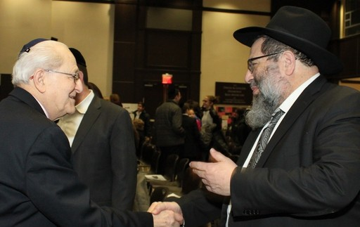 Irving Roth, founder of Adopt-A-Survivor, with Rav Yaakov Bender, Darchei Torah's principal.