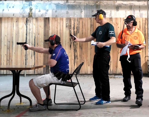 Over 200 people from 12 different shooting clubs came to the Olympic Shooting Range in Herzeliya for a practical shooting competition.