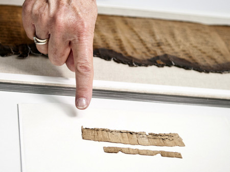 The rare document is preserved in the Israel Antiquities Authority's Dead Sea Scrolls lab.