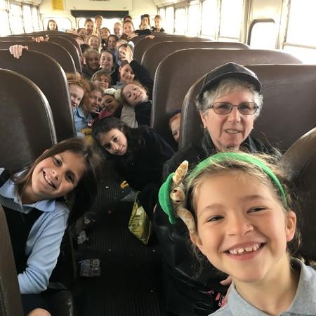 Shulamith third graders en route to the Yeshiva University Museum.