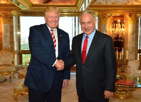 Donald Trump and Prime Minster Netanyahu at Trump Tower in September. Netanyahu also met with Hillary Clinton.