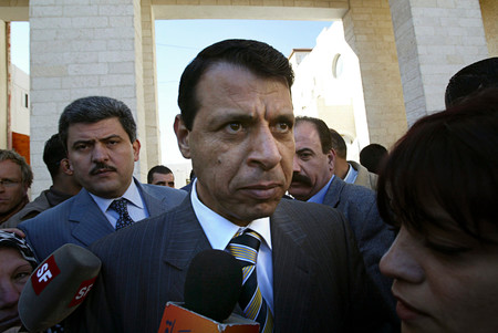 Former Palestinian Fatah party lawmaker Mohammed Dahlan, who is viewed as a potential successor to Palestinian Authority President Mahmoud Abbas.